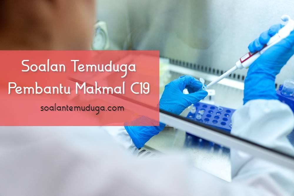 Soalan Temuduga Pembantu Makmal C19 Jabatan Perkhidmatan Veterinar