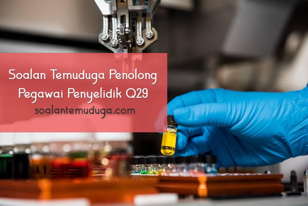 Soalan Temuduga Penolong Pegawai Penyelidik Q29 Jabatan Perikanan Malaysia