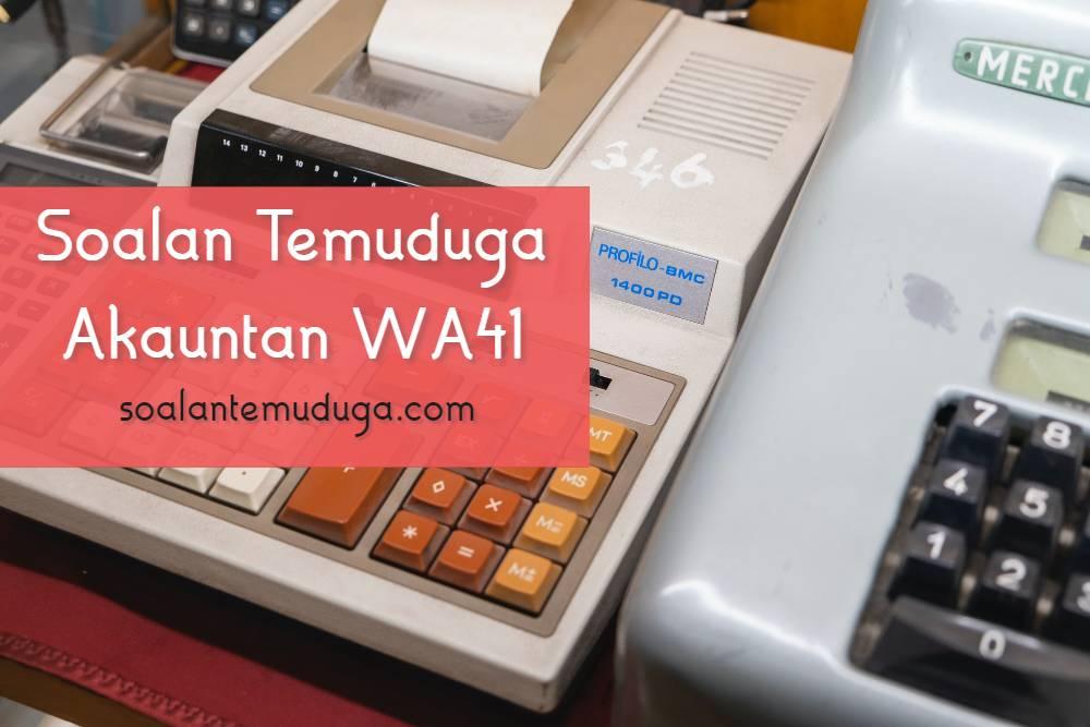 Soalan Temuduga Akauntan WA41