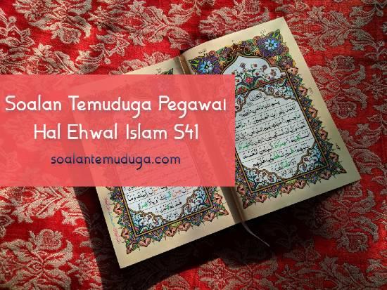 Soalan Temuduga Pegawai Hal Ehwal Islam S41
