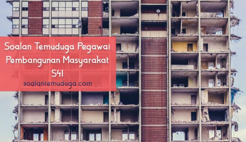 Soalan Temuduga Pegawai Pembangunan Masyarakat S41